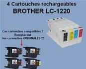 Brother LC1220 4 Cartouches rechargeables