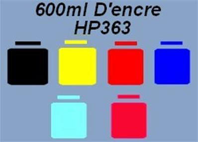 6 X100ml D'encre compatible HP363
