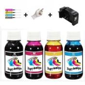 Kit Brother LC221 400 ml d'encre, 100ml Bk, M,C,Y + un resetter de puces